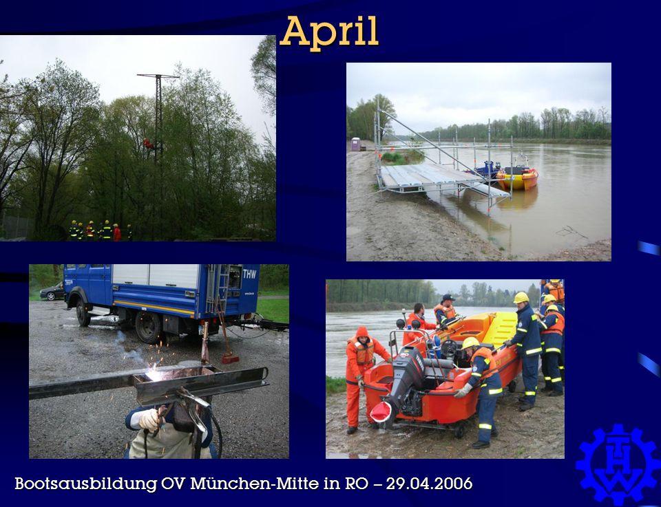 April Bootsausbildung OV München-Mitte in RO – 29.04.2006