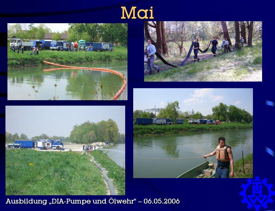 """Mai Ausbildung """"DIA-Pumpe und Ölwehr – 06.05.2006"""