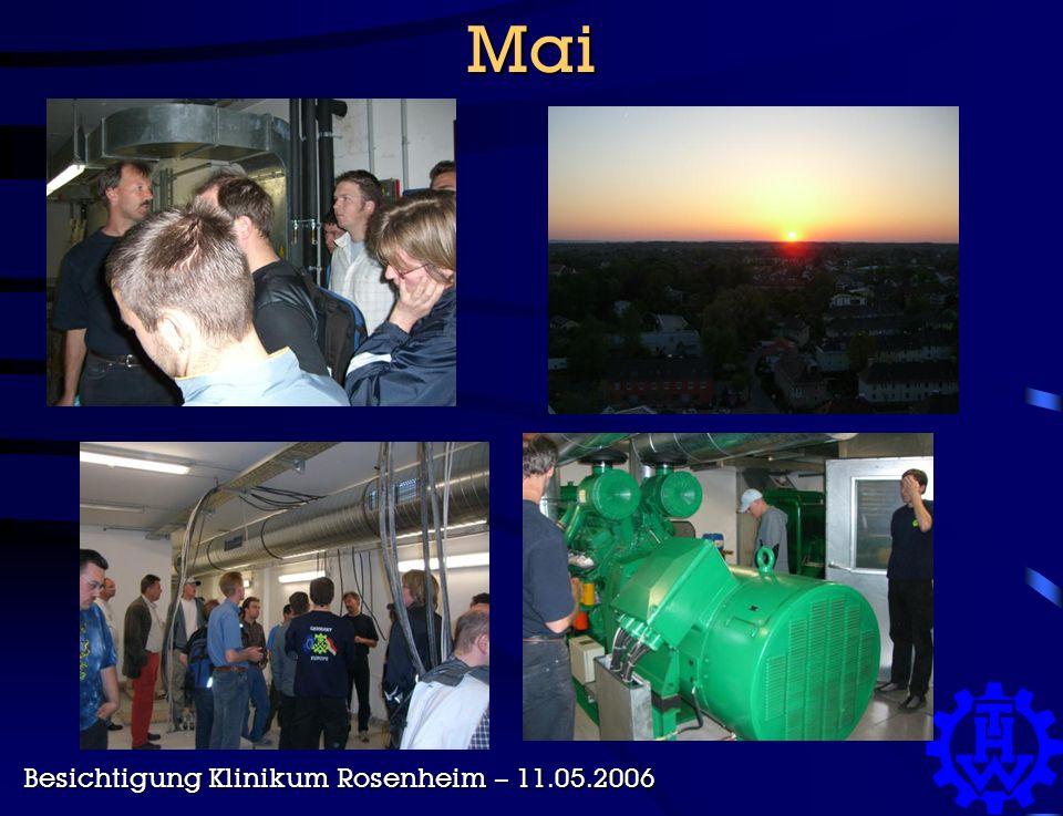 Mai Besichtigung Klinikum Rosenheim – 11.05.2006