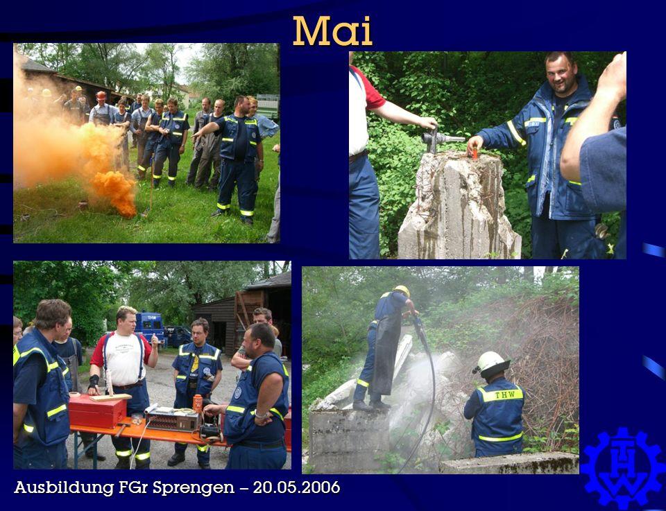 Mai Ausbildung FGr Sprengen – 20.05.2006