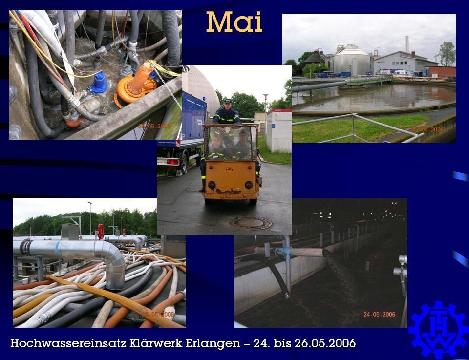 Mai Hochwassereinsatz Klärwerk Erlangen – 24. bis 26.05.2006