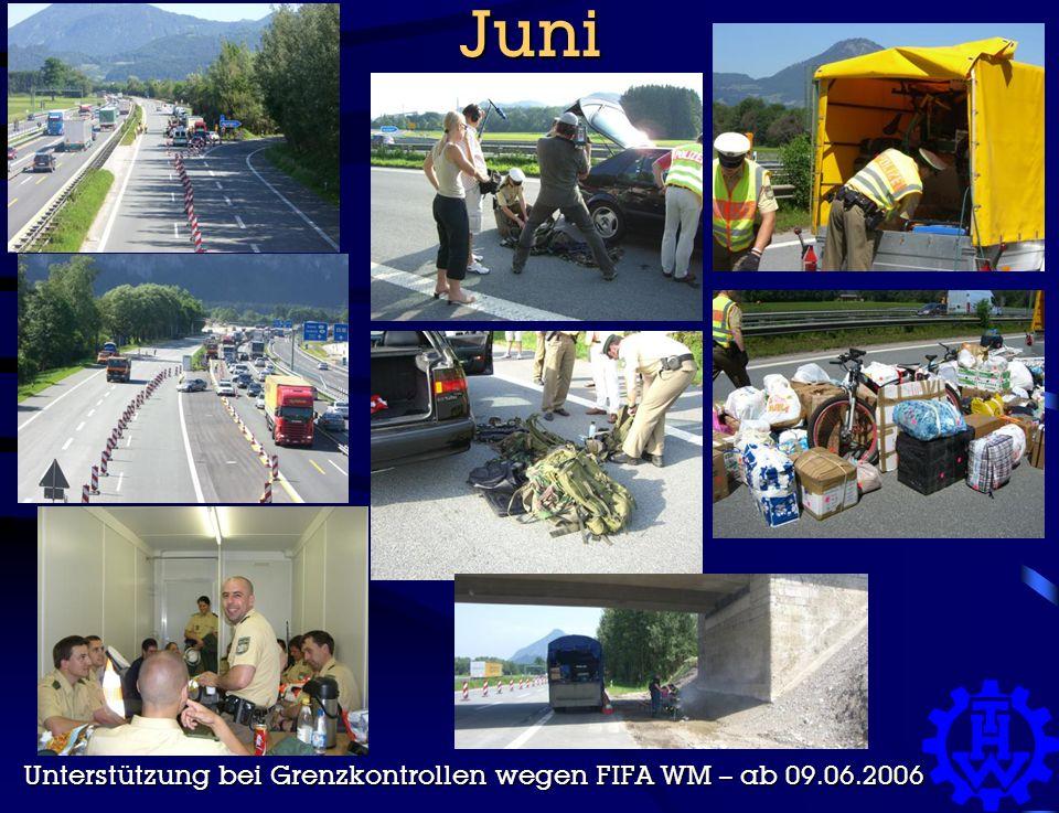 Juni Unterstützung bei Grenzkontrollen wegen FIFA WM – ab 09.06.2006