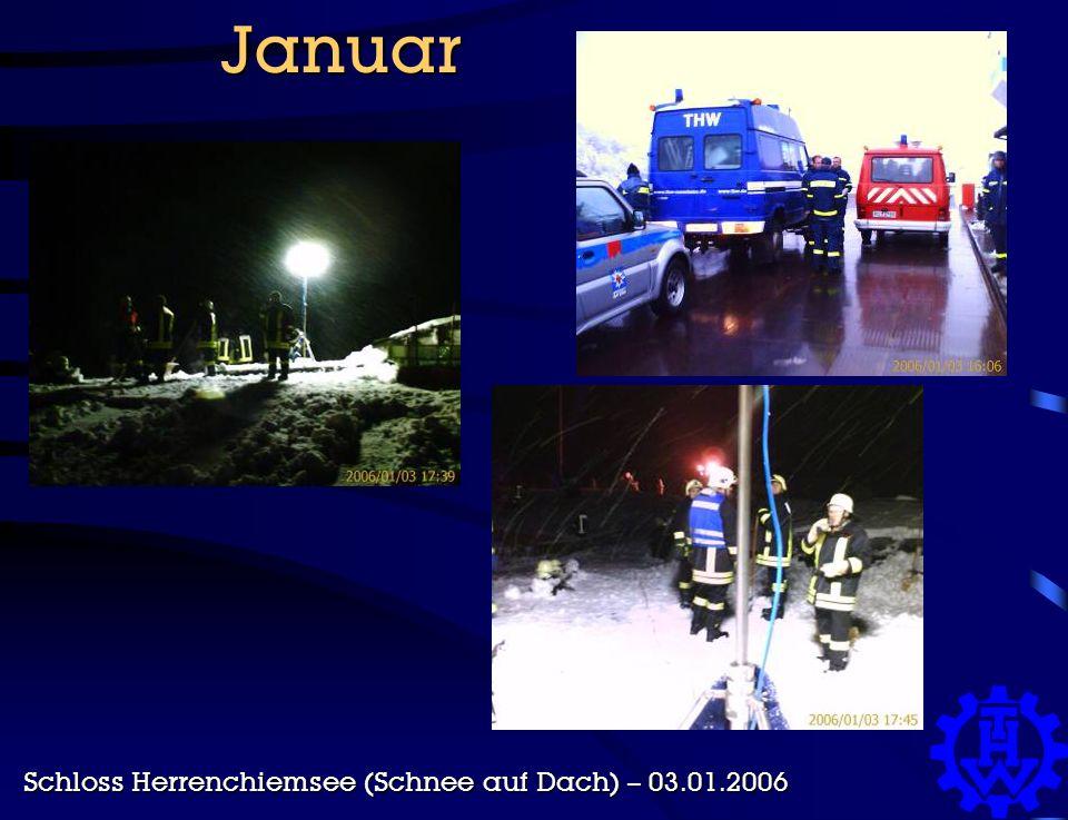 Januar Schloss Herrenchiemsee (Schnee auf Dach) – 03.01.2006