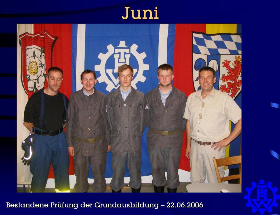 Juni Bestandene Prüfung der Grundausbildung – 22.06.2006
