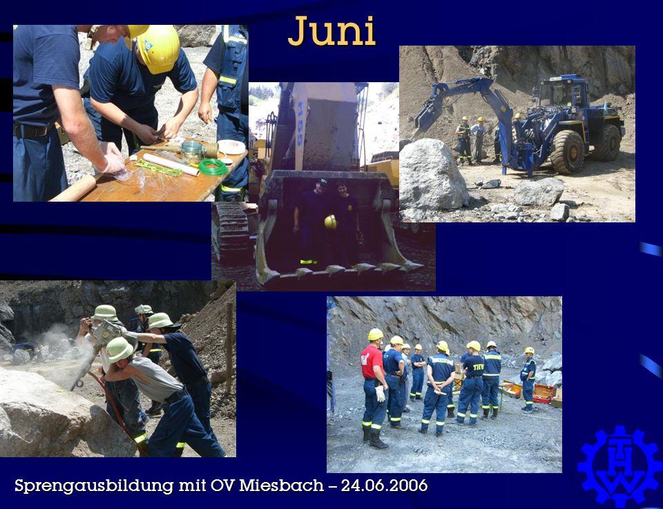Juni Sprengausbildung mit OV Miesbach – 24.06.2006