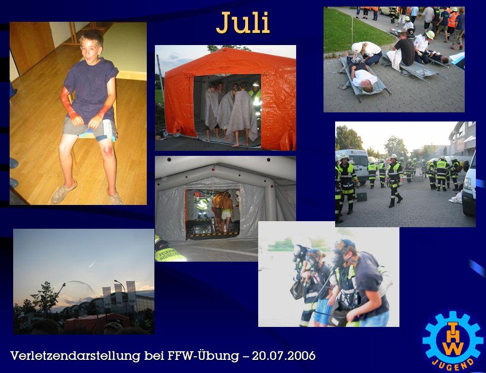 Juli Verletzendarstellung bei FFW-Übung – 20.07.2006