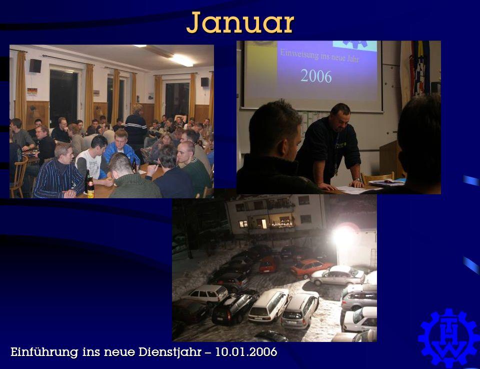Januar Einführung ins neue Dienstjahr – 10.01.2006