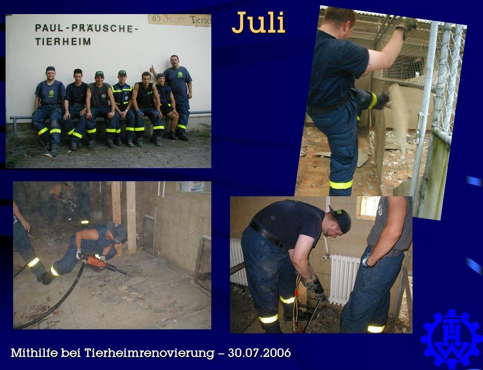Juli Juli Mithilfe bei Tierheimrenovierung – 30.07.2006