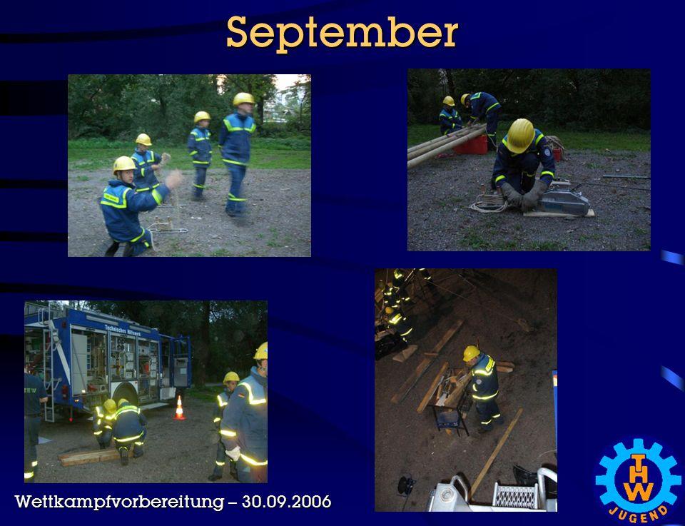 September Wettkampfvorbereitung – 30.09.2006