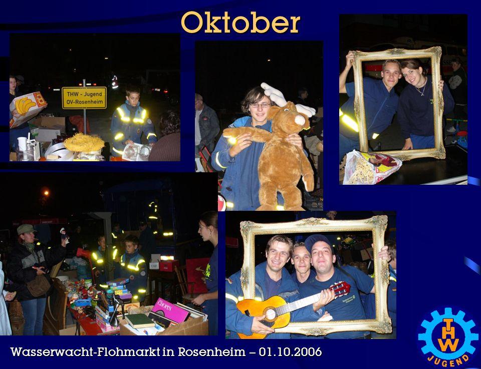 Oktober Wasserwacht-Flohmarkt in Rosenheim – 01.10.2006