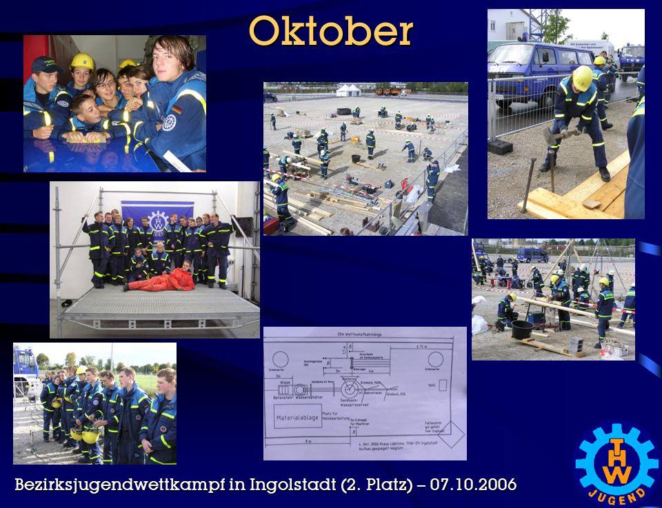 Oktober Bezirksjugendwettkampf in Ingolstadt (2. Platz) – 07.10.2006