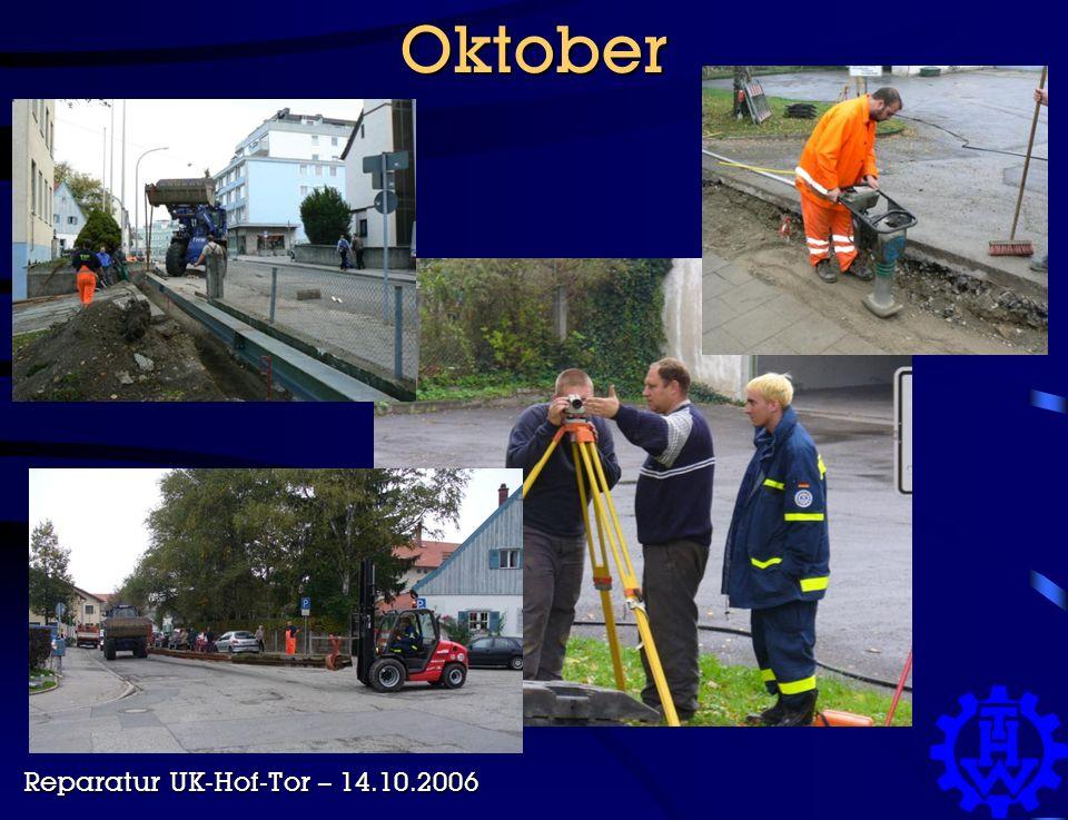 Oktober Reparatur UK-Hof-Tor – 14.10.2006