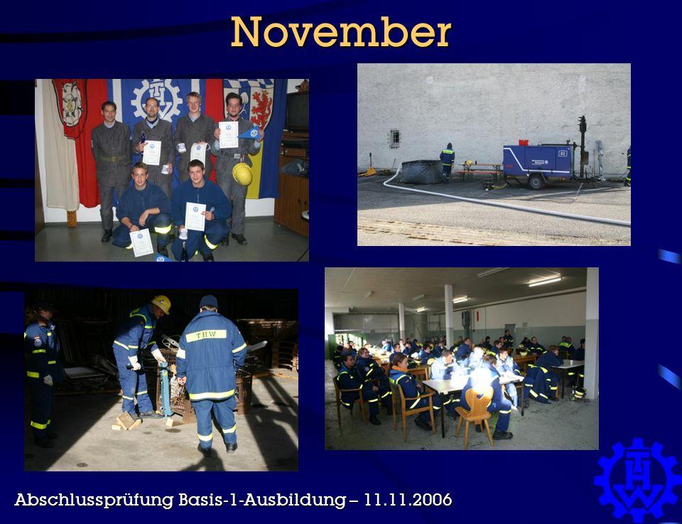 November Abschlussprüfung Basis-1-Ausbildung – 11.11.2006