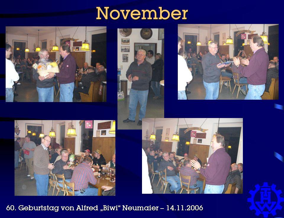 """November 60. Geburtstag von Alfred """"Biwi Neumaier – 14.11.2006"""
