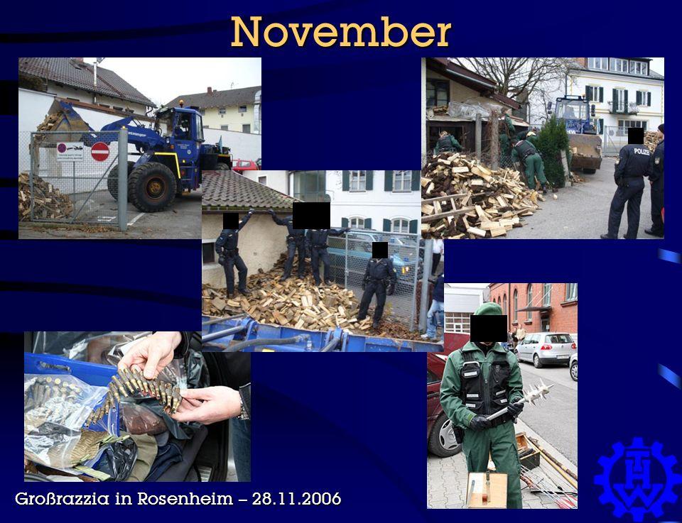 November Großrazzia in Rosenheim – 28.11.2006