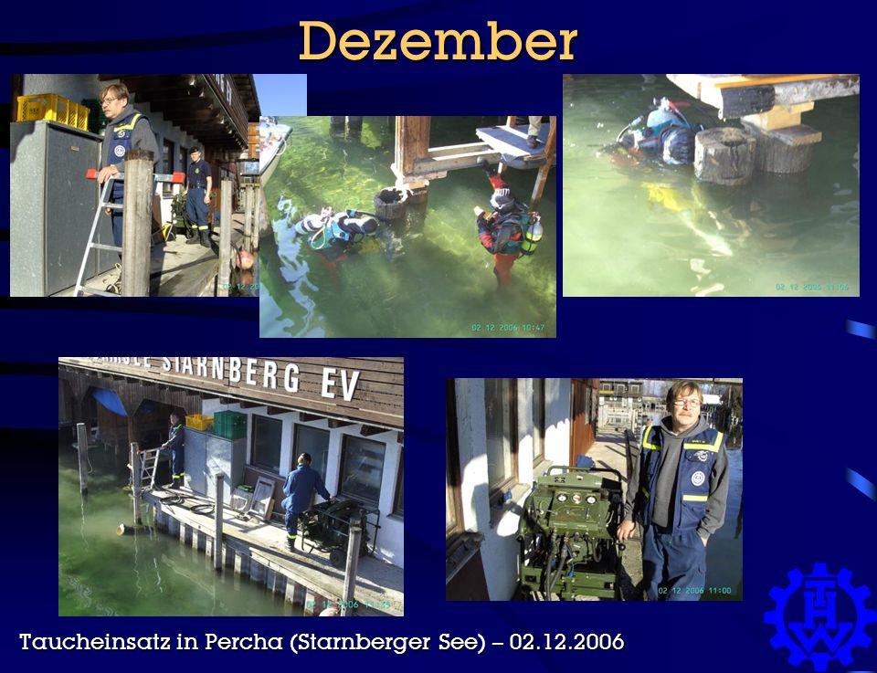 Dezember Taucheinsatz in Percha (Starnberger See) – 02.12.2006
