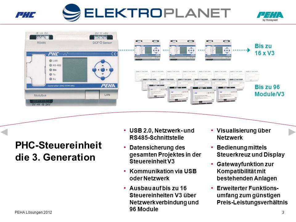 PEHA Lösungen 20123 PHC-Steuereinheit die 3. Generation USB 2.0, Netzwerk- und RS485-Schnittstelle Datensicherung des gesamten Projektes in der Steuer