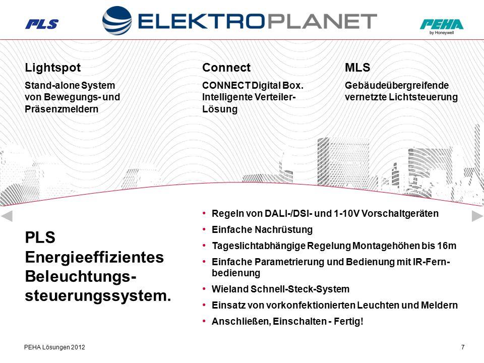 PEHA Lösungen 20127 PLS Energieeffizientes Beleuchtungs- steuerungssystem.