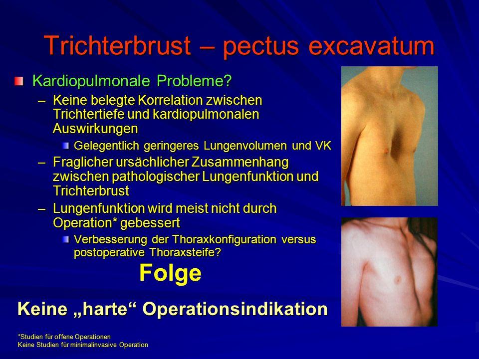 Trichterbrust – pectus excavatum Kardiopulmonale Probleme.