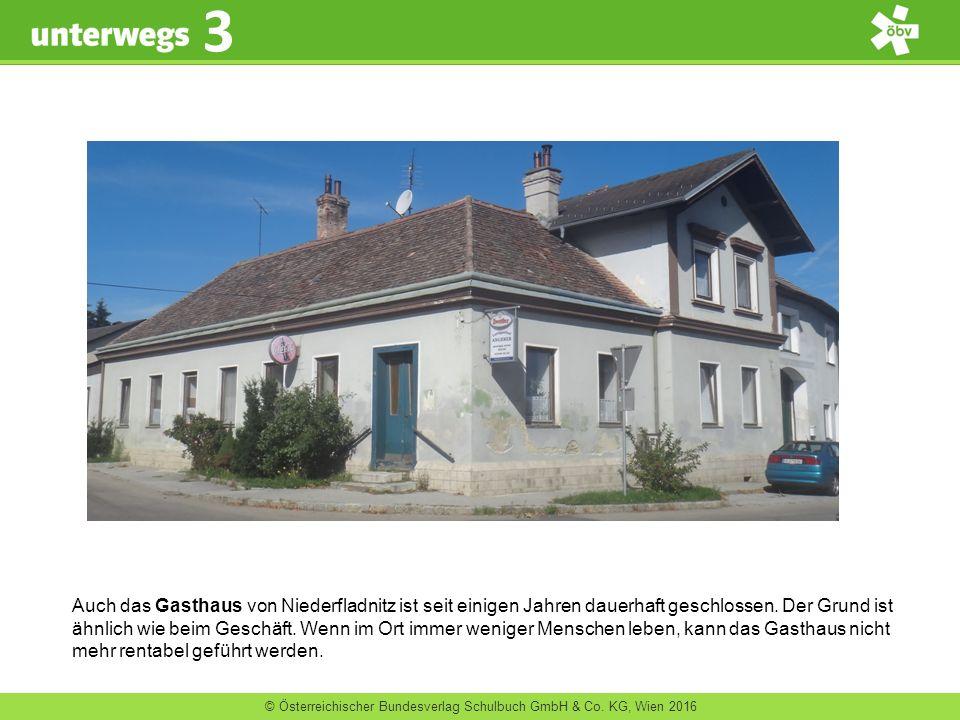 © Österreichischer Bundesverlag Schulbuch GmbH & Co. KG, Wien 2016 3 Auch das Gasthaus von Niederfladnitz ist seit einigen Jahren dauerhaft geschlosse