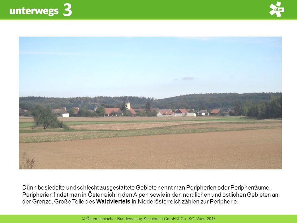 © Österreichischer Bundesverlag Schulbuch GmbH & Co. KG, Wien 2016 3 Dünn besiedelte und schlecht ausgestattete Gebiete nennt man Peripherien oder Per