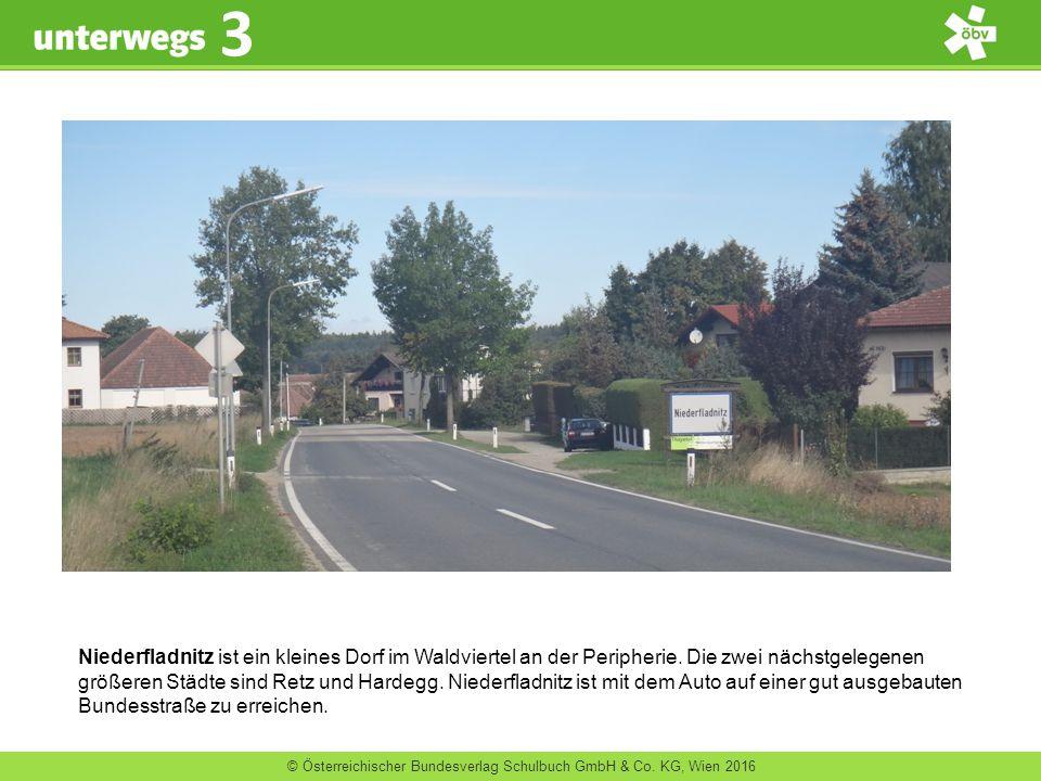 © Österreichischer Bundesverlag Schulbuch GmbH & Co. KG, Wien 2016 3 Niederfladnitz ist ein kleines Dorf im Waldviertel an der Peripherie. Die zwei nä