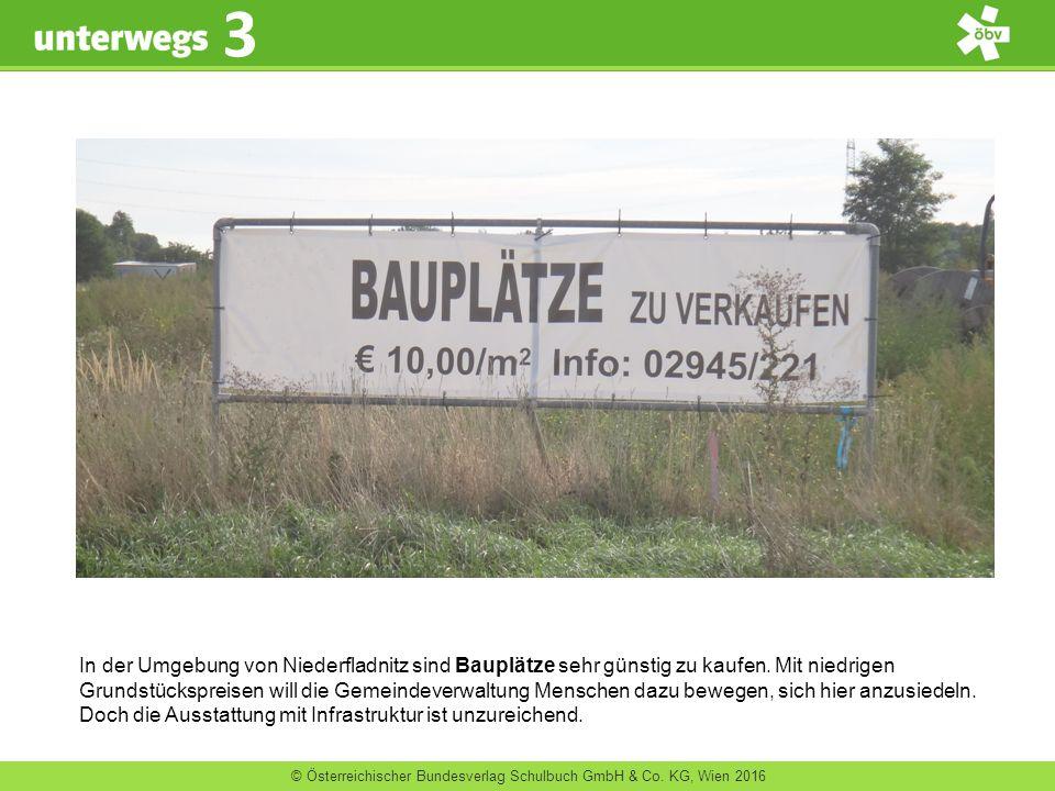 © Österreichischer Bundesverlag Schulbuch GmbH & Co. KG, Wien 2016 3 In der Umgebung von Niederfladnitz sind Bauplätze sehr günstig zu kaufen. Mit nie