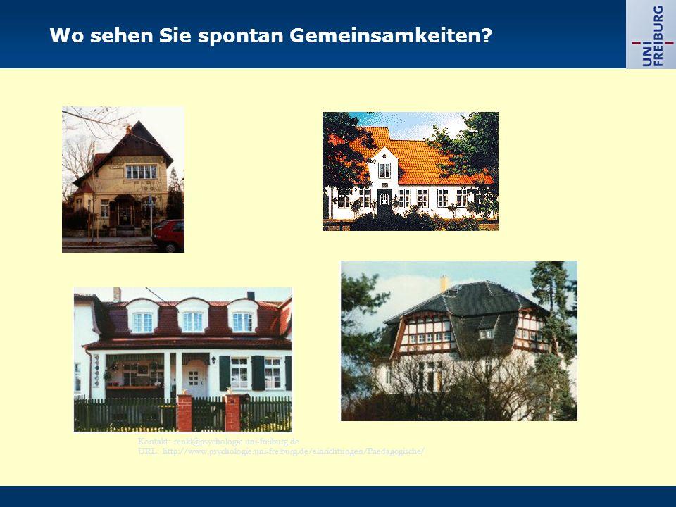 Kontakt: renkl@psychologie.uni-freiburg.de URL: http://www.psychologie.uni-freiburg.de/einrichtungen/Paedagogische/ Wo sehen Sie spontan Gemeinsamkeit