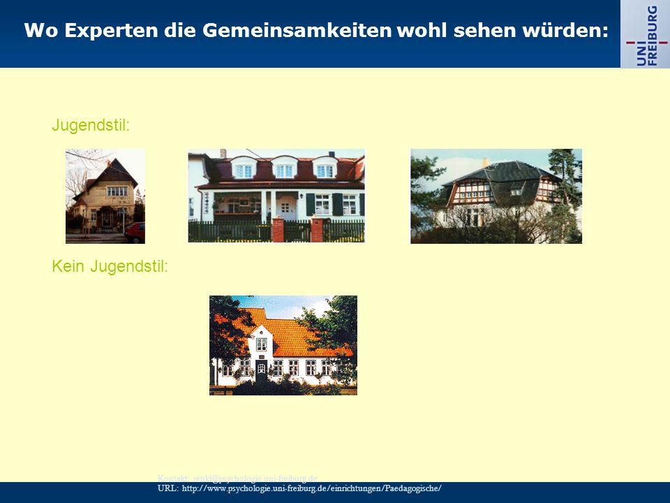 Kontakt: renkl@psychologie.uni-freiburg.de URL: http://www.psychologie.uni-freiburg.de/einrichtungen/Paedagogische/ Wo Experten die Gemeinsamkeiten wo