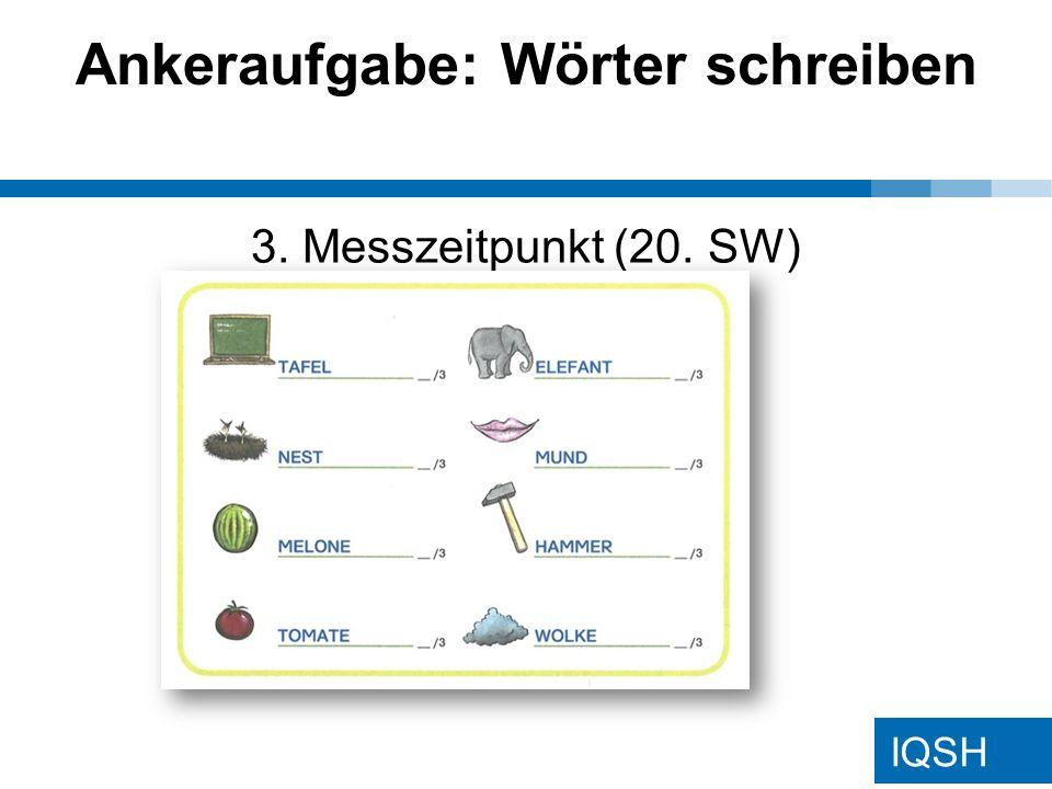 IQSH Ankeraufgabe: Wörter schreiben 3. Messzeitpunkt (20. SW)