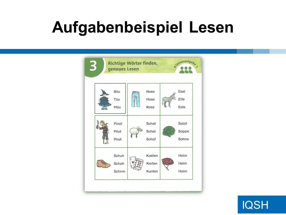 IQSH Aufgabenbeispiel Lesen