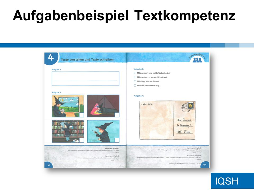 IQSH Aufgabenbeispiel Textkompetenz
