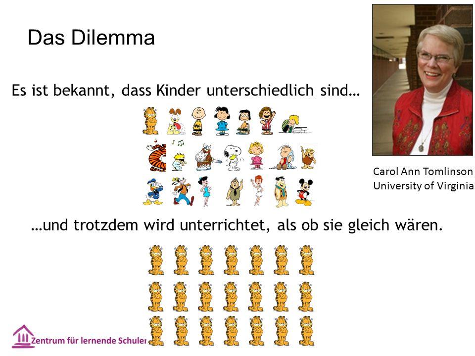 Das Dilemma Es ist bekannt, dass Kinder unterschiedlich sind… …und trotzdem wird unterrichtet, als ob sie gleich wären.