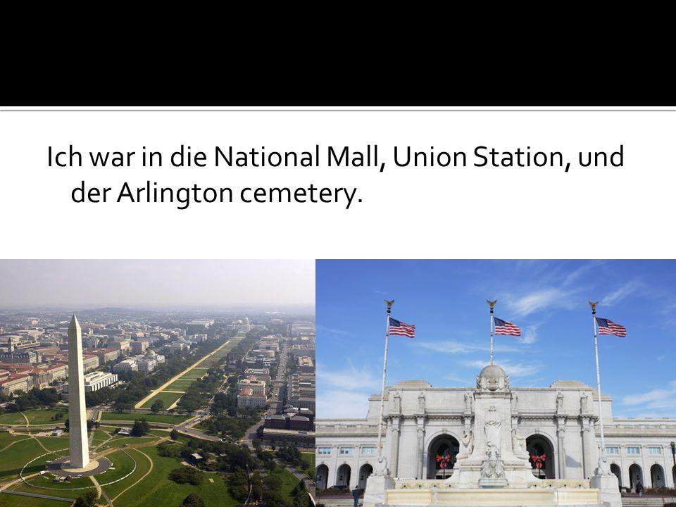 Ich besicthig die Washington monument