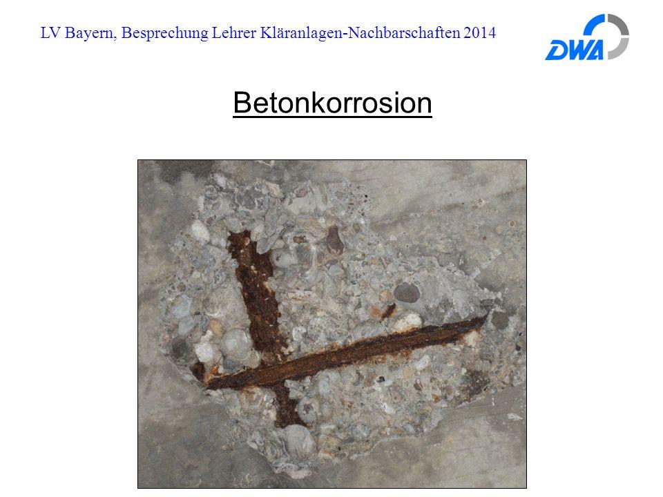 LV Bayern, Besprechung Lehrer Kläranlagen-Nachbarschaften 2014 Betonkorrosion