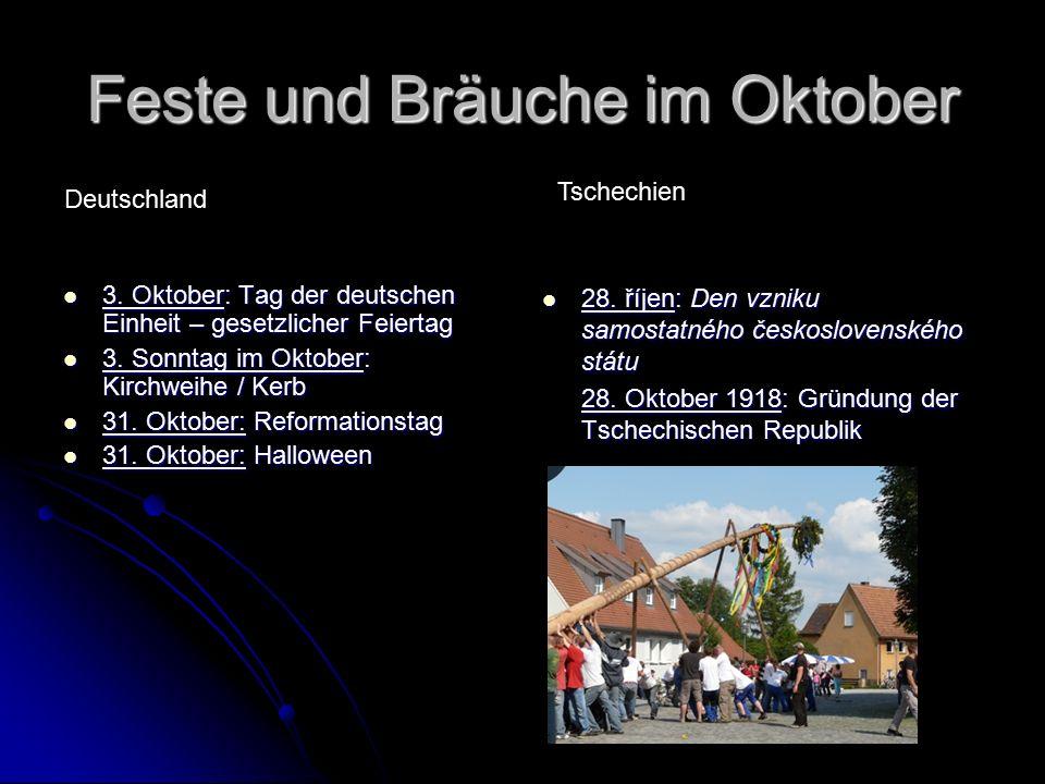 Feste und Bräuche im Oktober 3. Oktober: Tag der deutschen Einheit – gesetzlicher Feiertag 3.