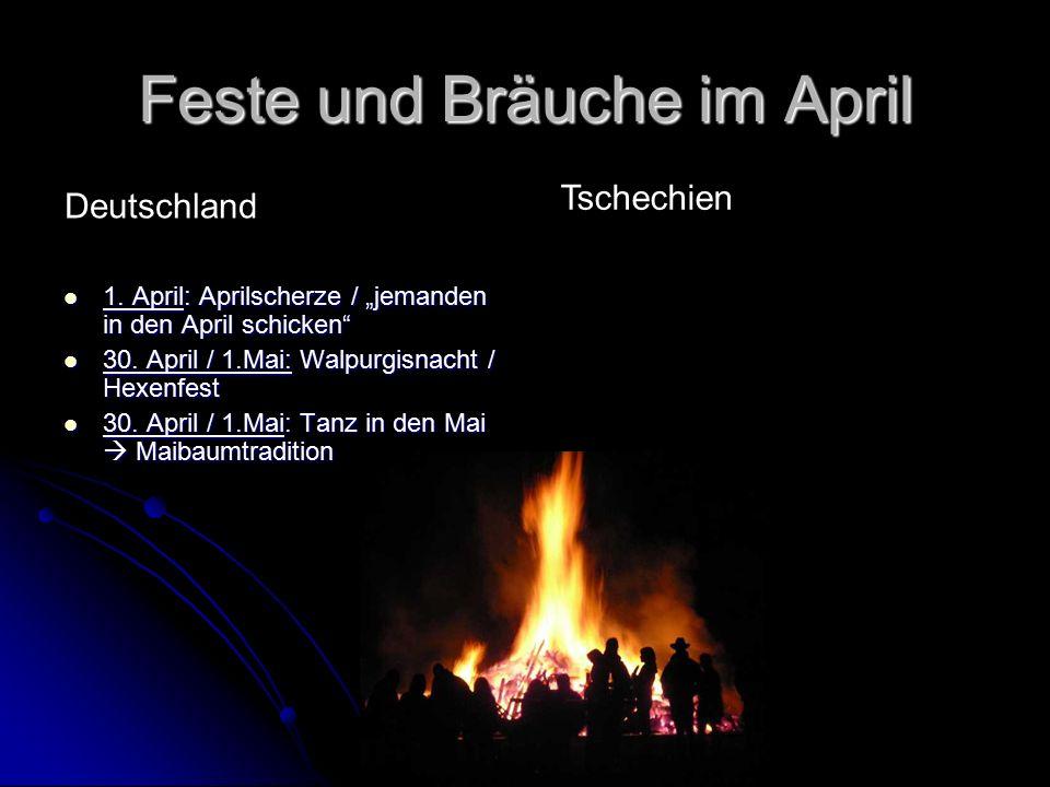 """Feste und Bräuche im April 1. April: Aprilscherze / """"jemanden in den April schicken 1."""