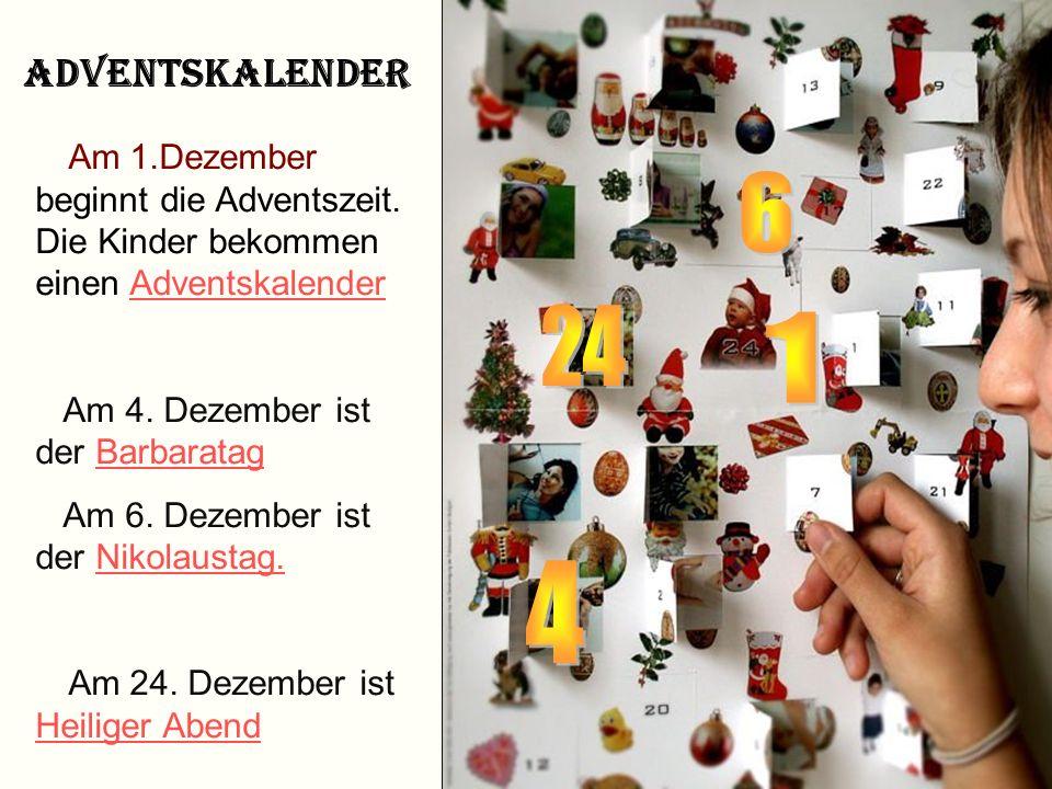 Advent und Weihnachten A d v e n t Vier Sonntage vor dem Weihnachtsfest Dauert vom 1.