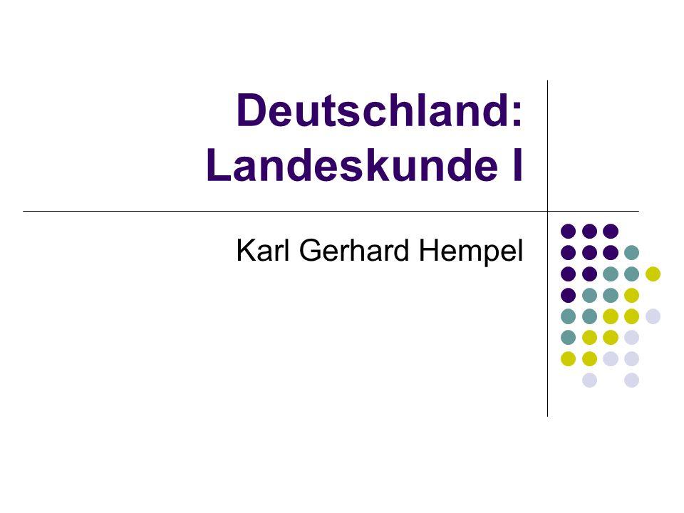 Deutschland: Landeskunde I Karl Gerhard Hempel
