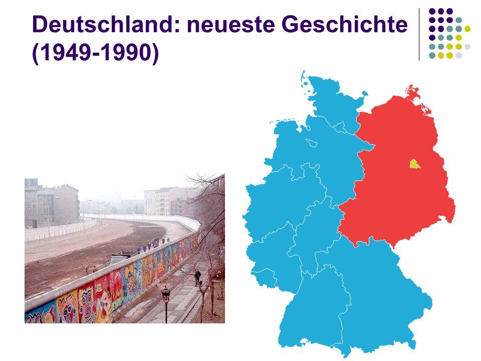 Deutschland: neueste Geschichte (1949-1990)