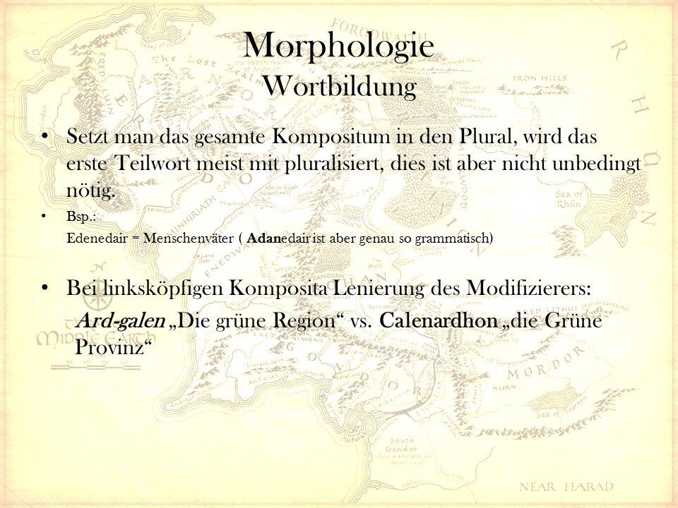 Morphologie Wortbildung Setzt man das gesamte Kompositum in den Plural, wird das erste Teilwort meist mit pluralisiert, dies ist aber nicht unbedingt nötig.