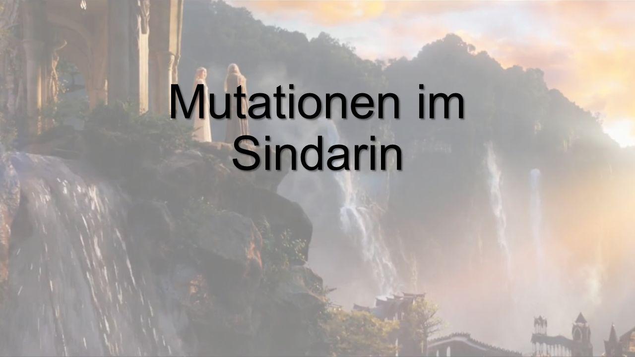 Mutationen im Sindarin