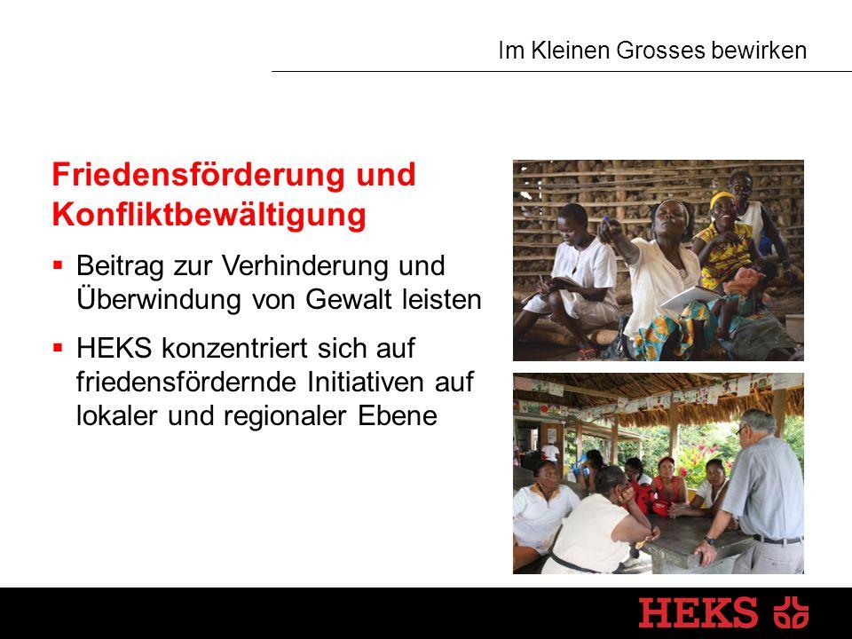 Im Kleinen Grosses bewirken Humanitäre Hilfe Grundsatz  Nachhaltigkeit durch Wiederaufbau von Lebensgrundlagen und sozialen Strukturen