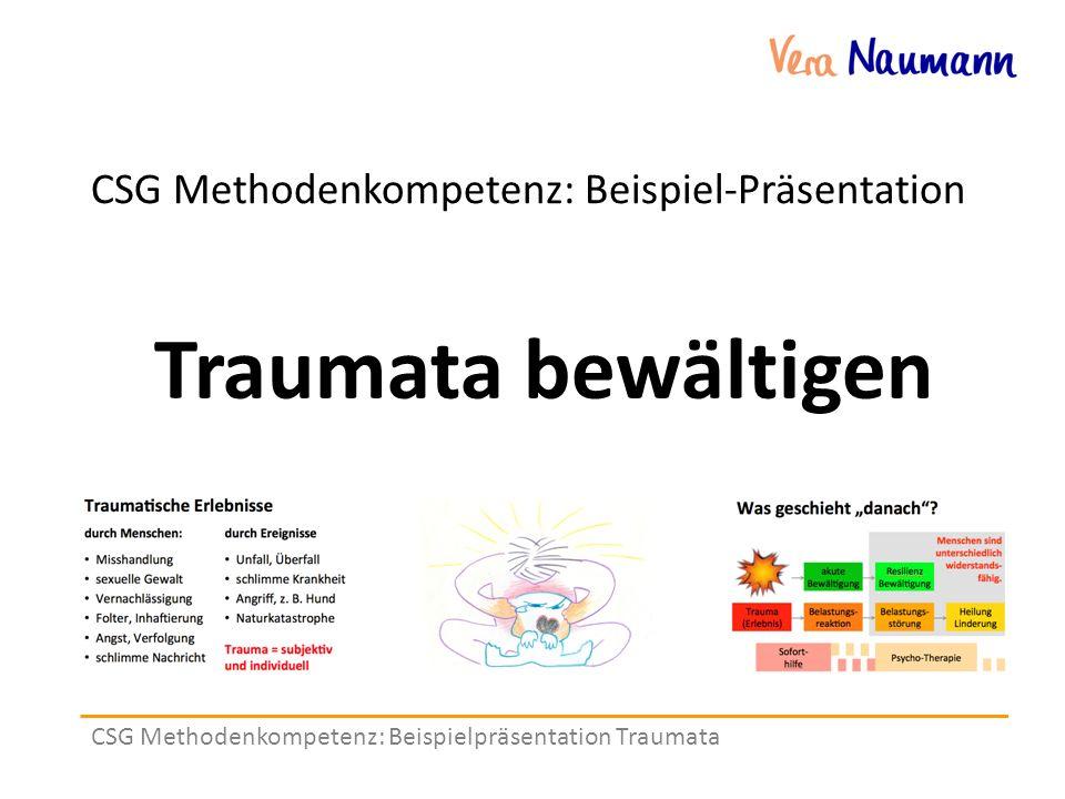 CSG Methodenkompetenz: Beispielpräsentation Traumata CSG Methodenkompetenz: Beispiel-Präsentation Traumata bewältigen