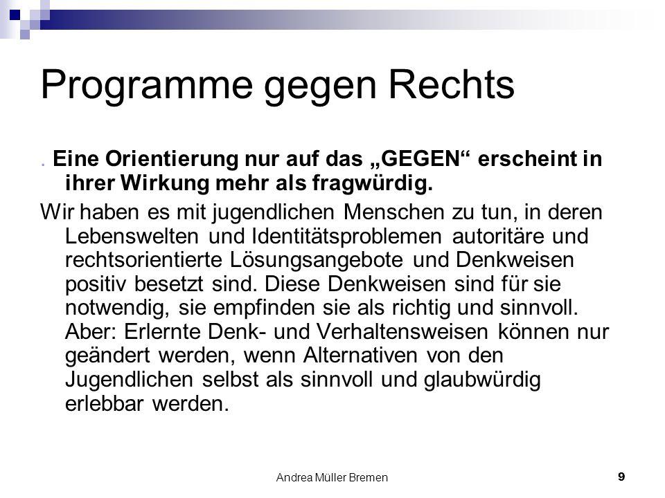 Andrea Müller Bremen9 Programme gegen Rechts.