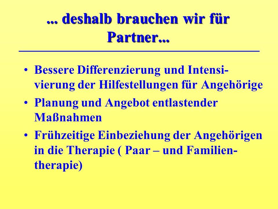 ...deshalb brauchen wir für Partner...