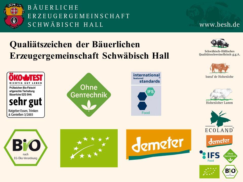 Qualiätszeichen der Bäuerlichen Erzeugergemeinschaft Schwäbisch Hall