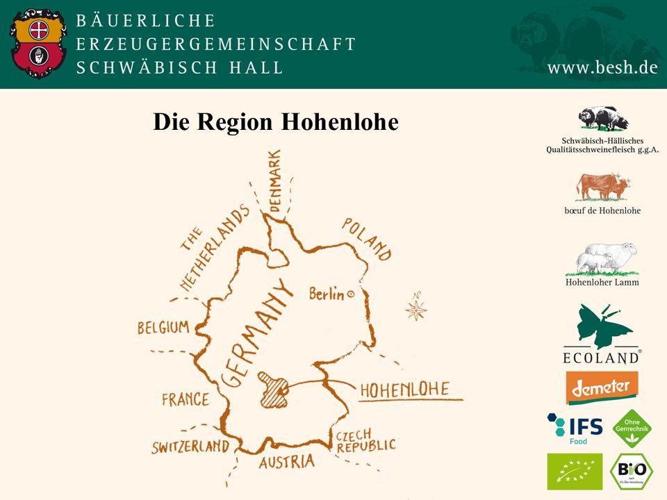 Die Region Hohenlohe