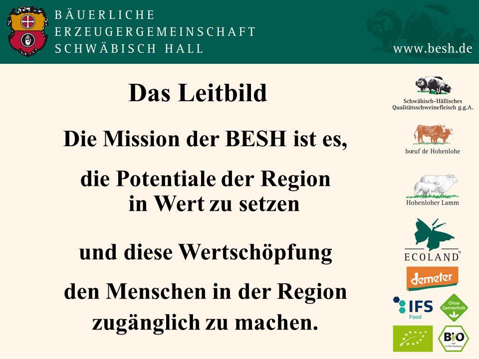 Das Leitbild Die Mission der BESH ist es, die Potentiale der Region in Wert zu setzen und diese Wertschöpfung den Menschen in der Region zugänglich zu machen.