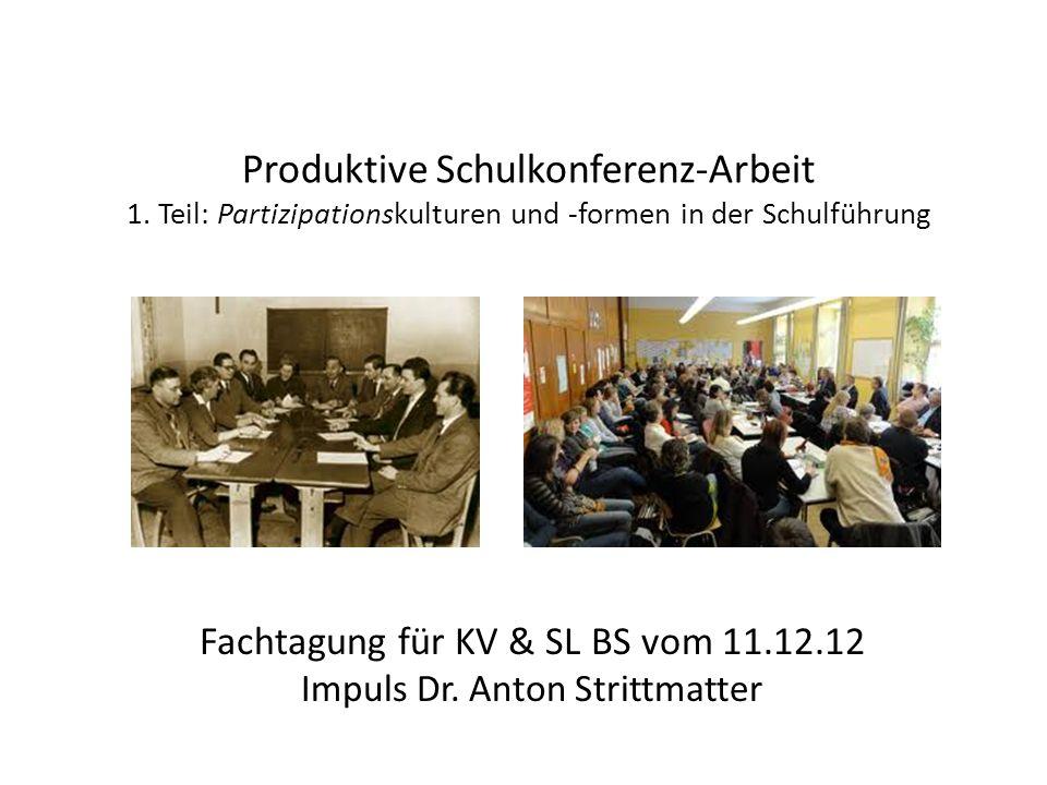 Produktive Schulkonferenz-Arbeit 1.